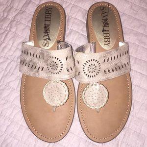 Sam & Libby Gold Sandals NWOT
